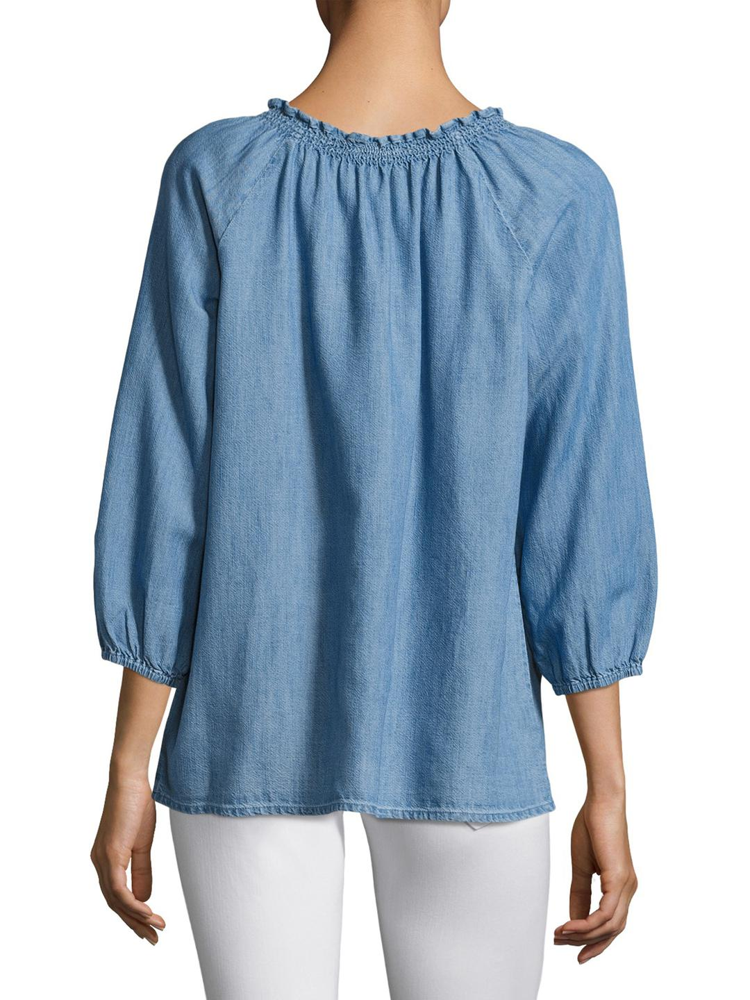 d906a27b0d419 Lyst - Joie Scarlina Cotton Blouse in Blue