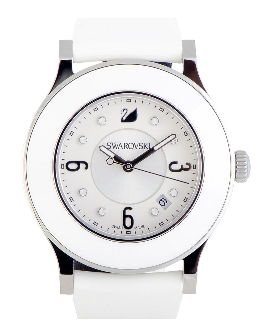 8eafc6a91 Swarovski Rubber Watch in Metallic - Lyst
