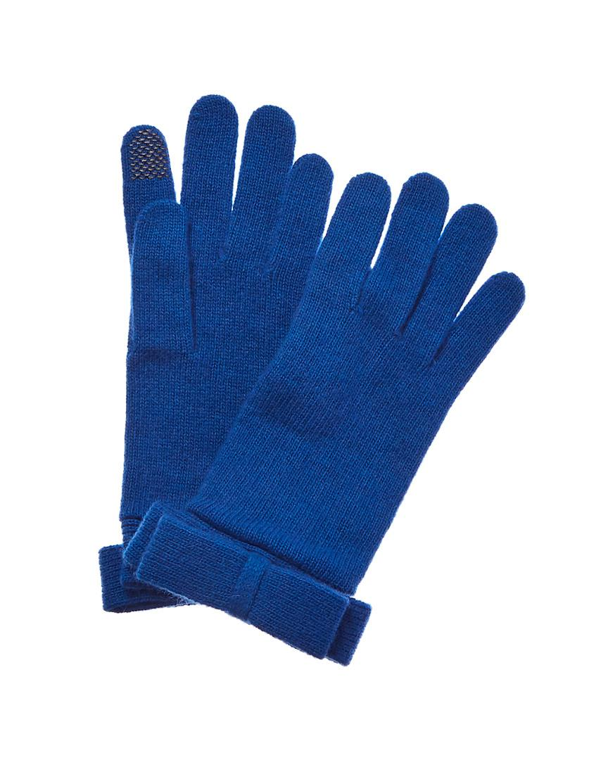 2013c45f0 Lyst - Portolano Cornflower Wool & Cashmere-blend Gloves in Blue