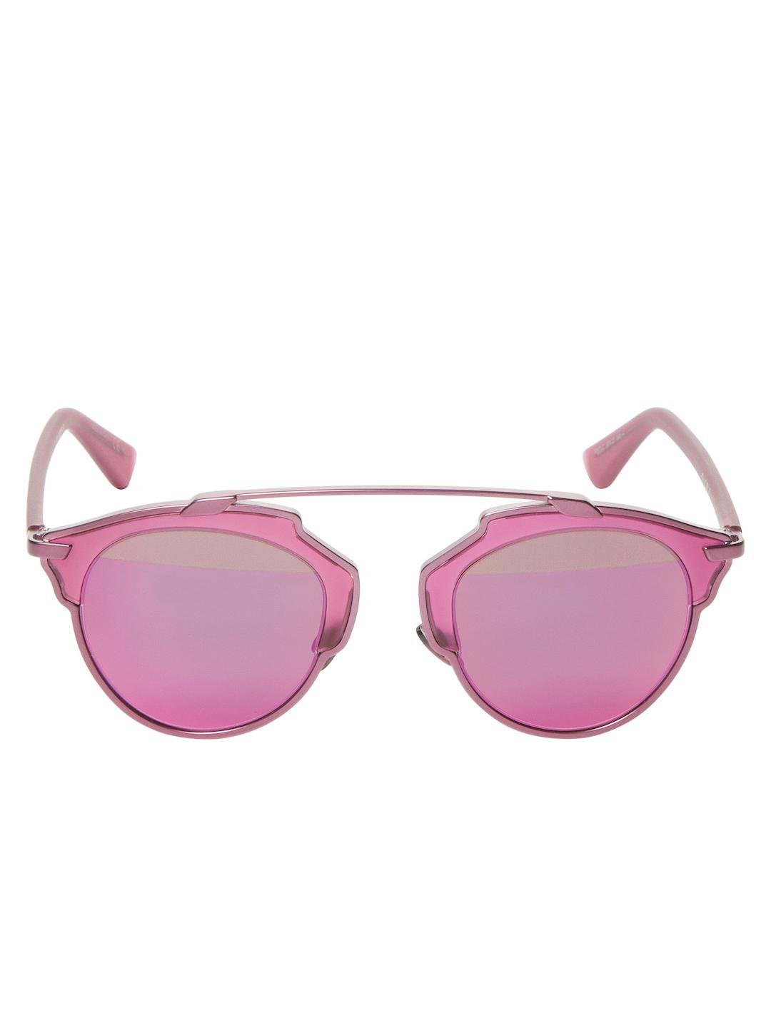 round frame sunglasses - Pink & Purple Dior