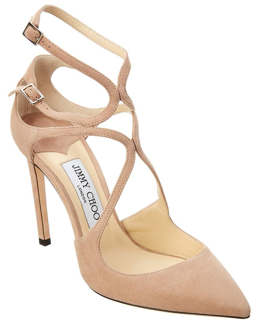 db84c3457c Jimmy Choo - Pink Lancer 100 Suede Pump - Lyst. View fullscreen