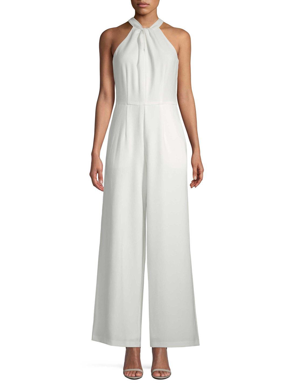 ed73c8be8c77 Lyst - Julia Jordan Twist Crepe Scuba Jumpsuit in White