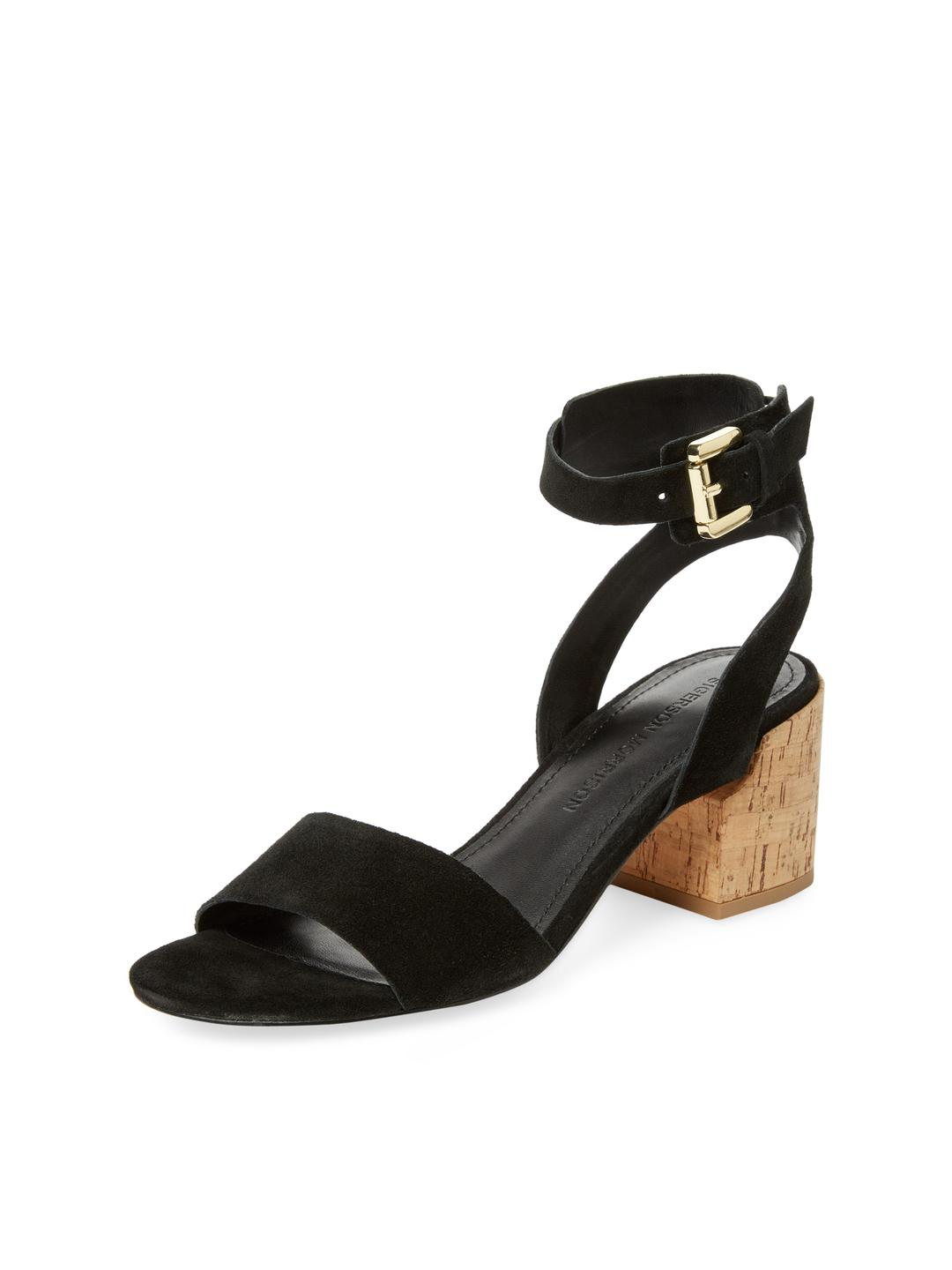 bc59ac1971b Lyst - Sigerson Morrison Riva Suede Sandal in Black