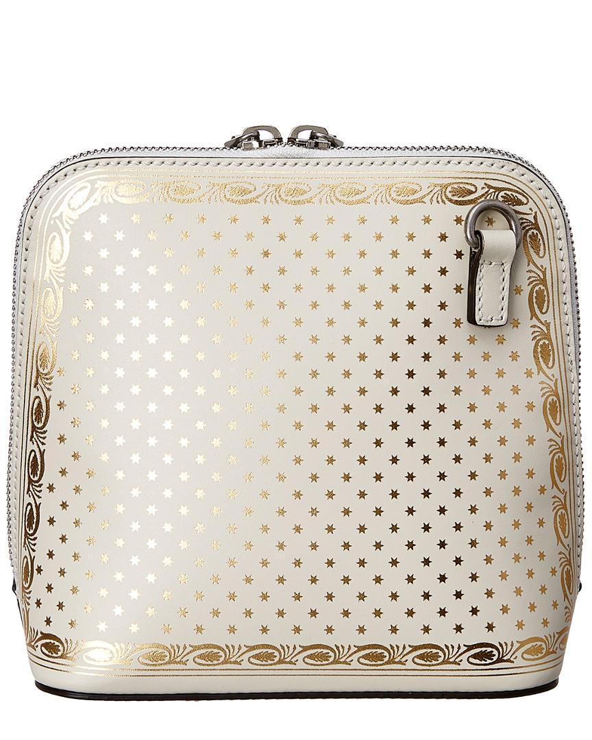 7ae6fb7a05d Gucci - White Guccy Sega® Print Mini Shoulder Bag - Lyst. View fullscreen