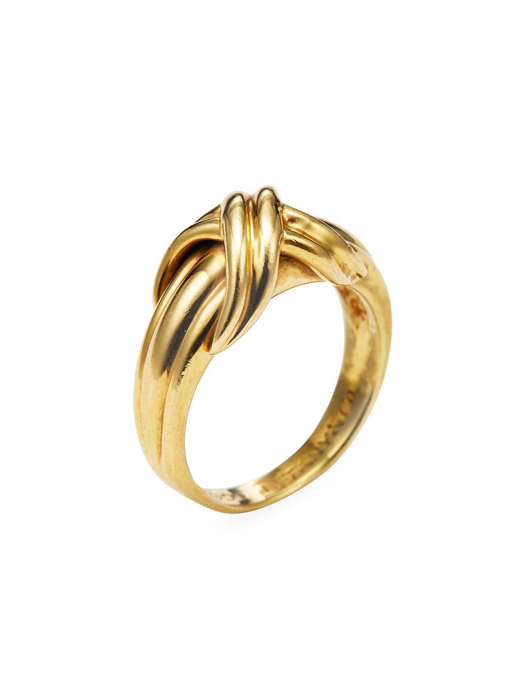 f84593e78 Tiffany & Co. Vintage 18k Yellow Gold X Ring in Metallic - Lyst