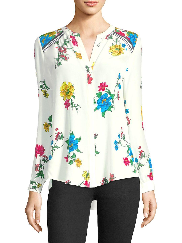 d31bf43db719bb Joie Yaritza B Floral-print Silk Georgette Top - Lyst