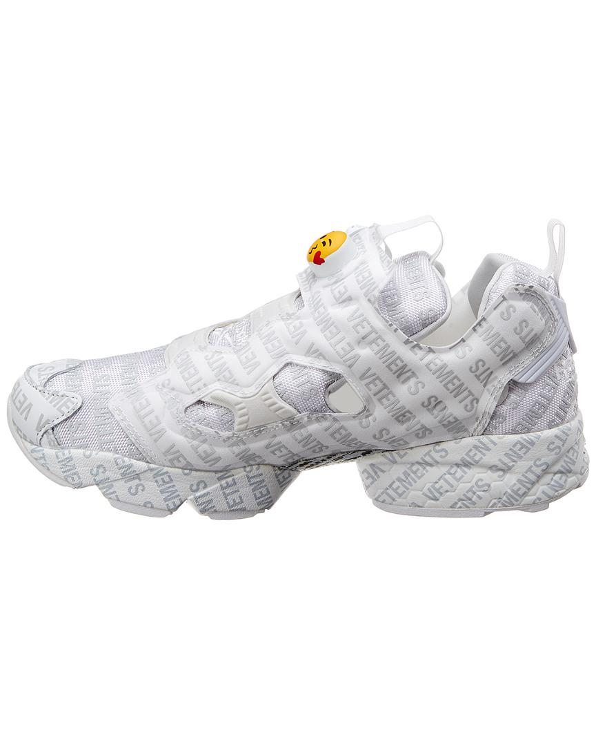 0dfb23ff138 Vetements X Reebok Logo Instapump Fury Sneakers in White for Men - Save 67%  - Lyst