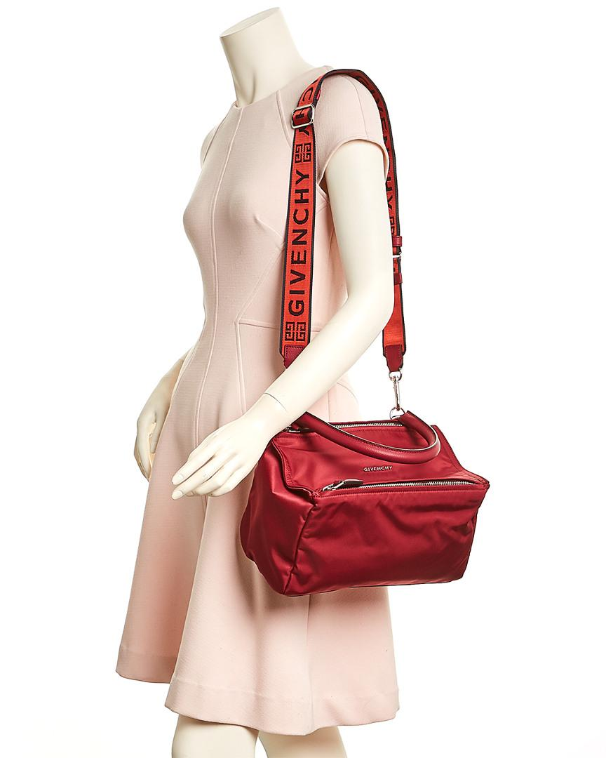 840a8f6271 Givenchy Small 4g Pandora Nylon & Leather Shoulder Bag in Red - Lyst