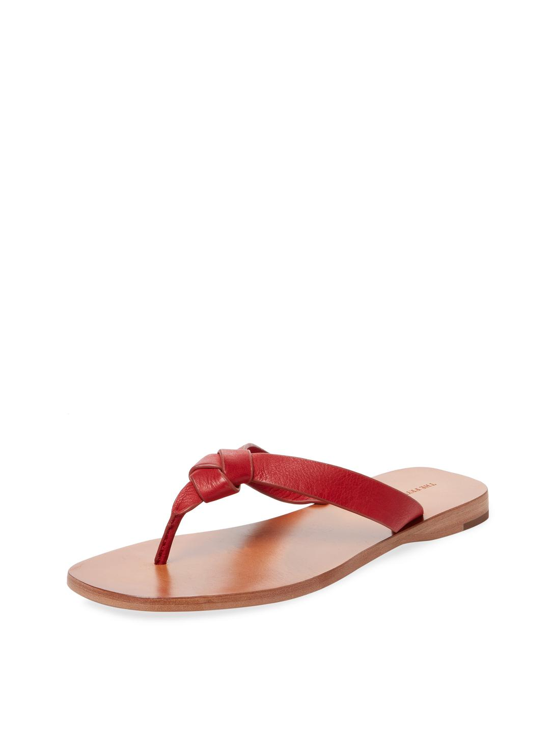 3832b8d1c5f8bc Lyst - Frye Perry Knot Leather Thong Sandal in Red