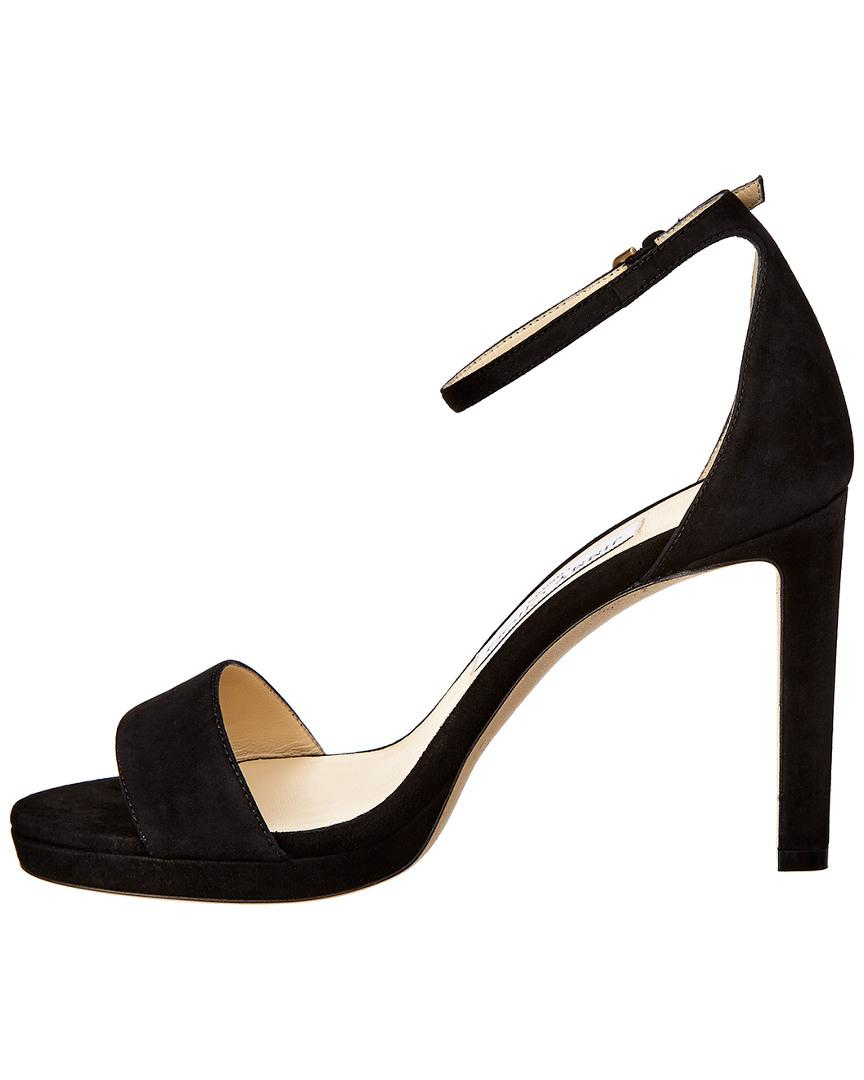 2cc6ad44991a Lyst - Jimmy Choo Misty 100 Suede Sandal in Black