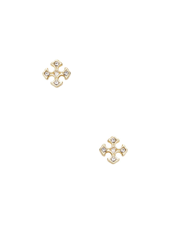 A.V. Max Small Concha Stud Earrings Gold JOFZY