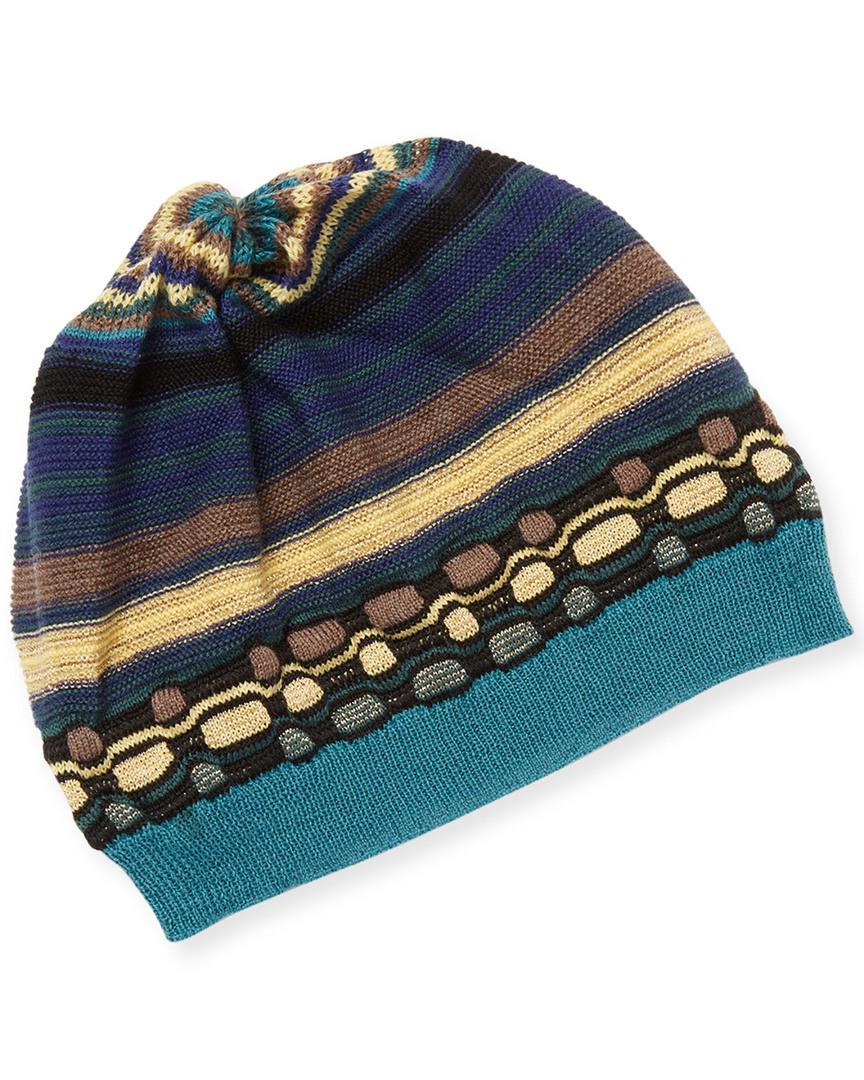 058fe554433 Missoni - Blue Gathered Knit Hat - Lyst. View fullscreen
