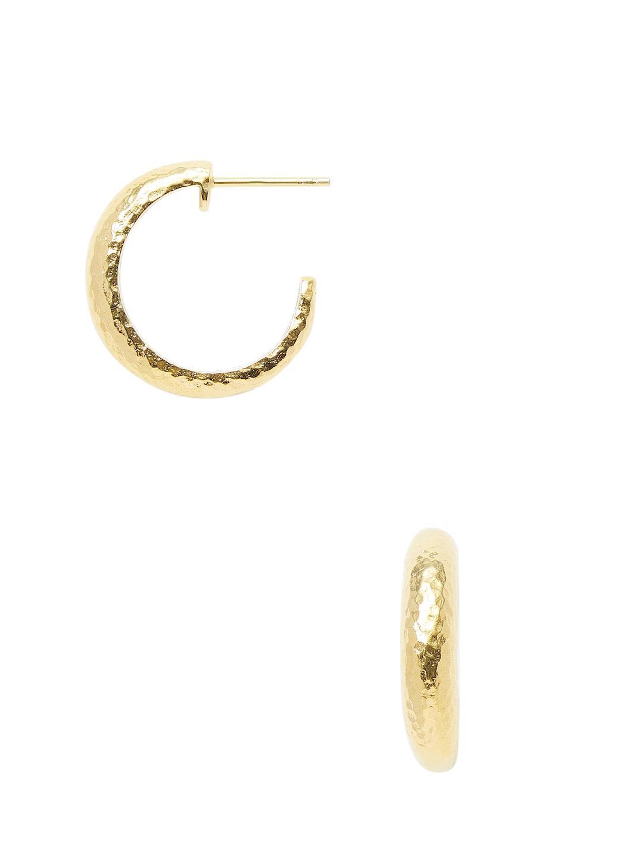 Gurhan Hoopla Small Tapered Hoop Earrings, Gold
