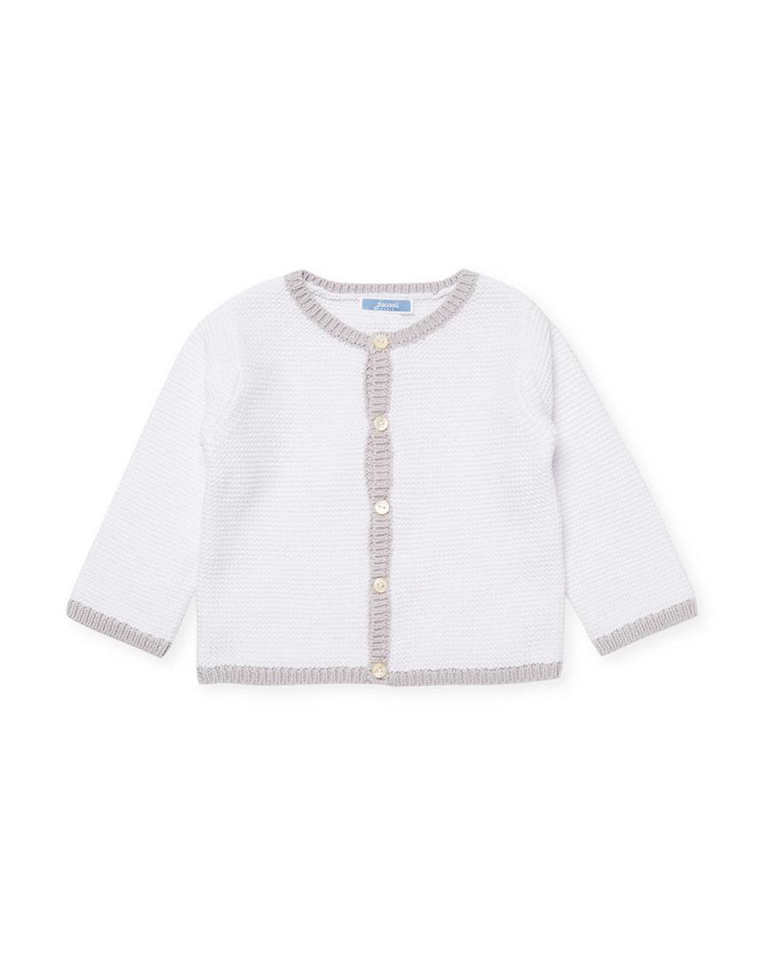 b68b173ab584 Lyst - Jacadi Fabillo Contrast Trimmed Cardigan in White