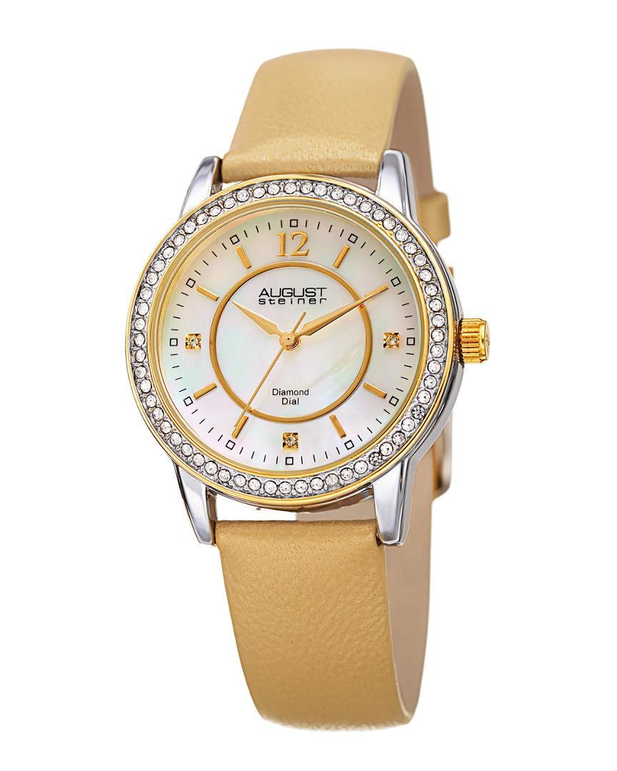 ae212e35824b Lyst - August Steiner Women s Set Of 3 Diamond Watches - Save 1%