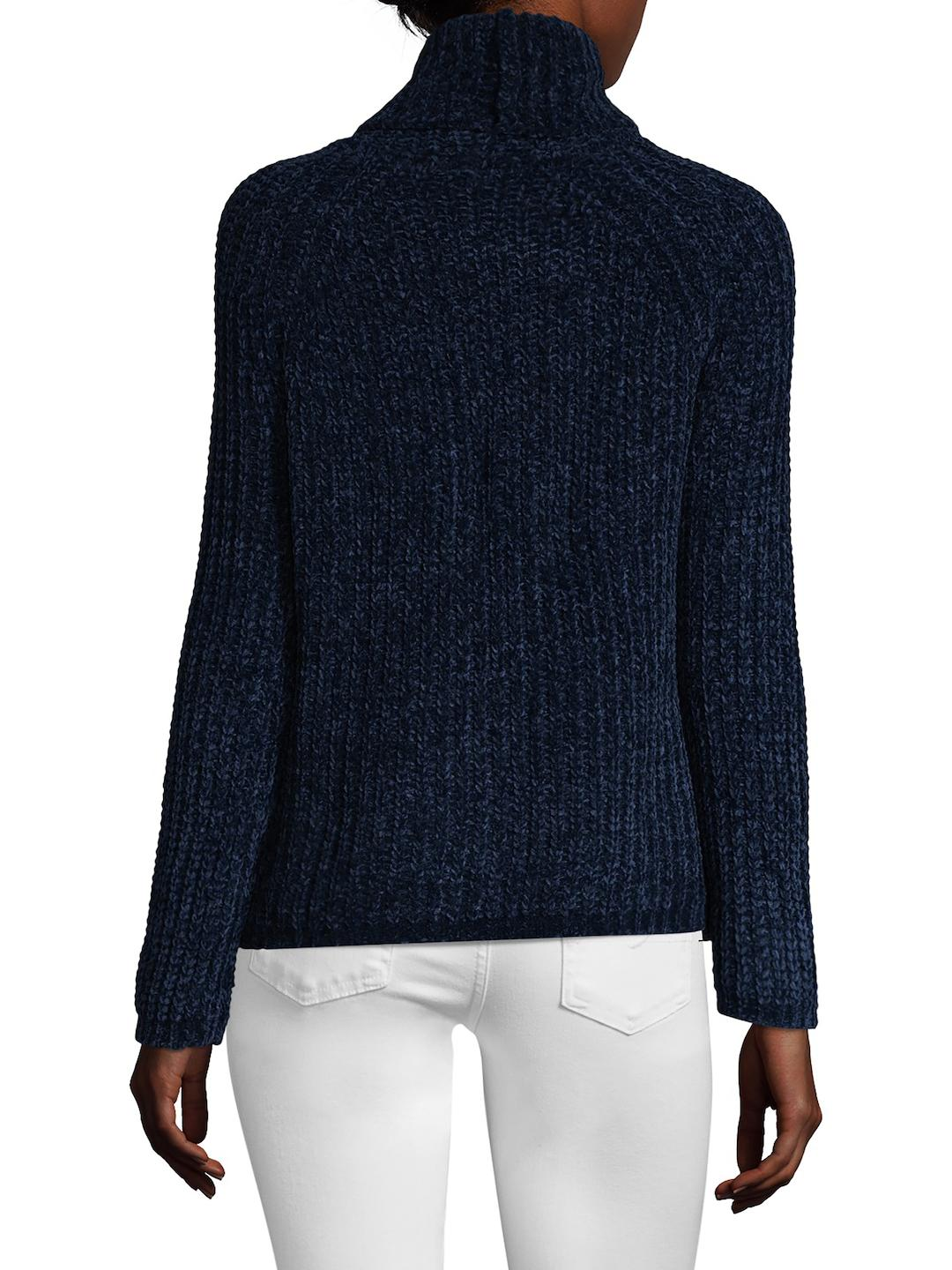 Sea bleu Ribbed Turtleneck Sweater in Blue | Lyst