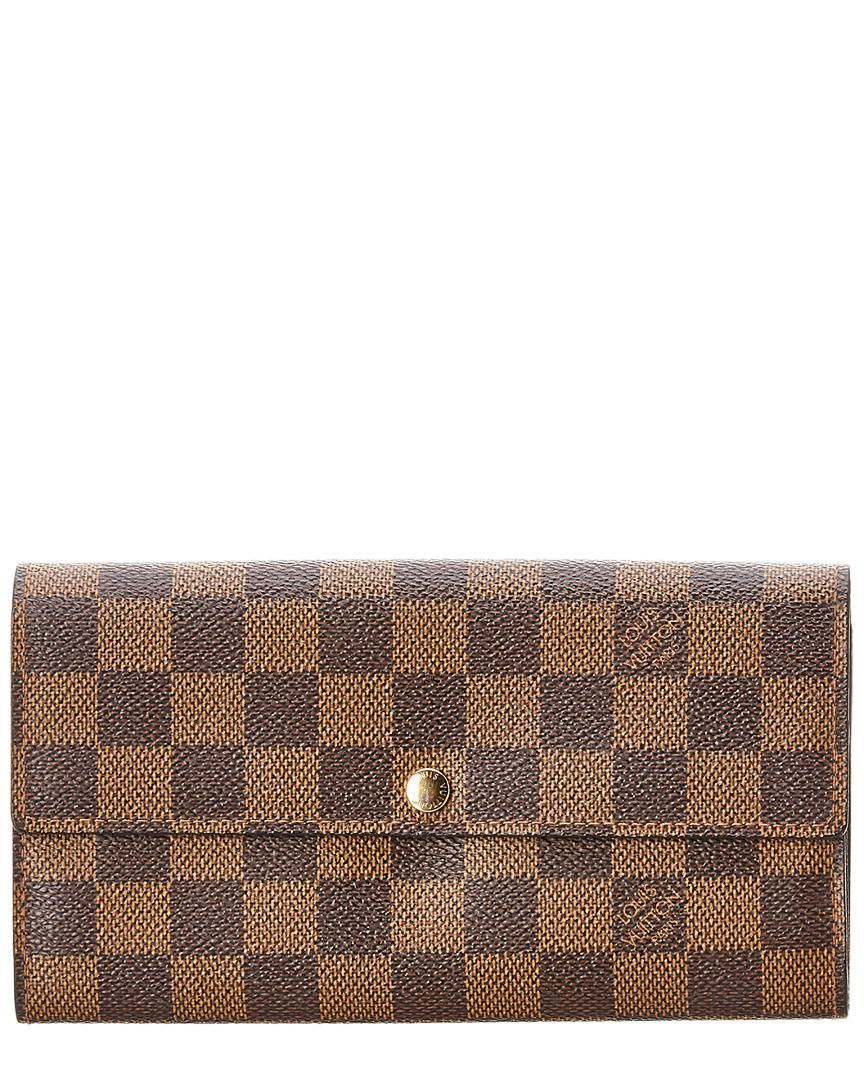 2fd638927fb0 Louis Vuitton Damier Ebene Canvas Sarah Wallet in Brown - Save ...