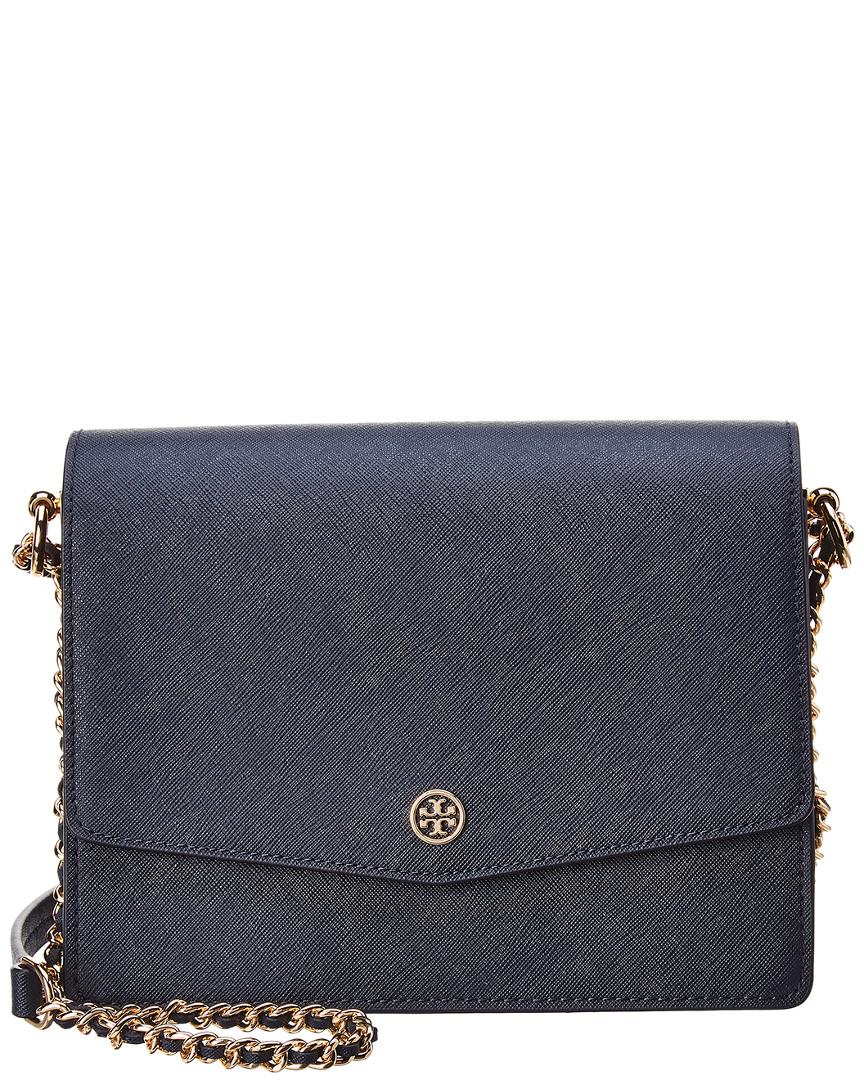 5347e54ccc74 Lyst - Tory Burch Robinson Convertible Leather Shoulder Bag in Blue