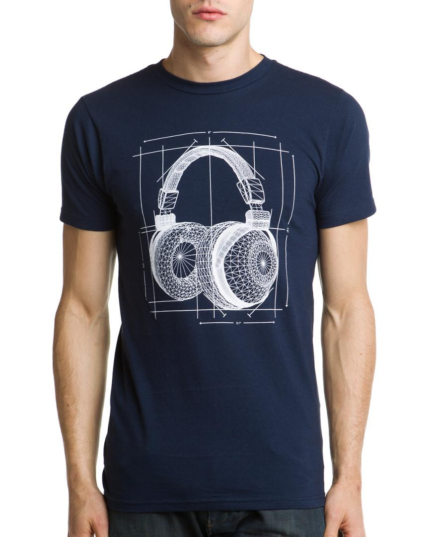 d92922810 Lyst - Arka The Blueprint Navy T-shirt in Blue for Men