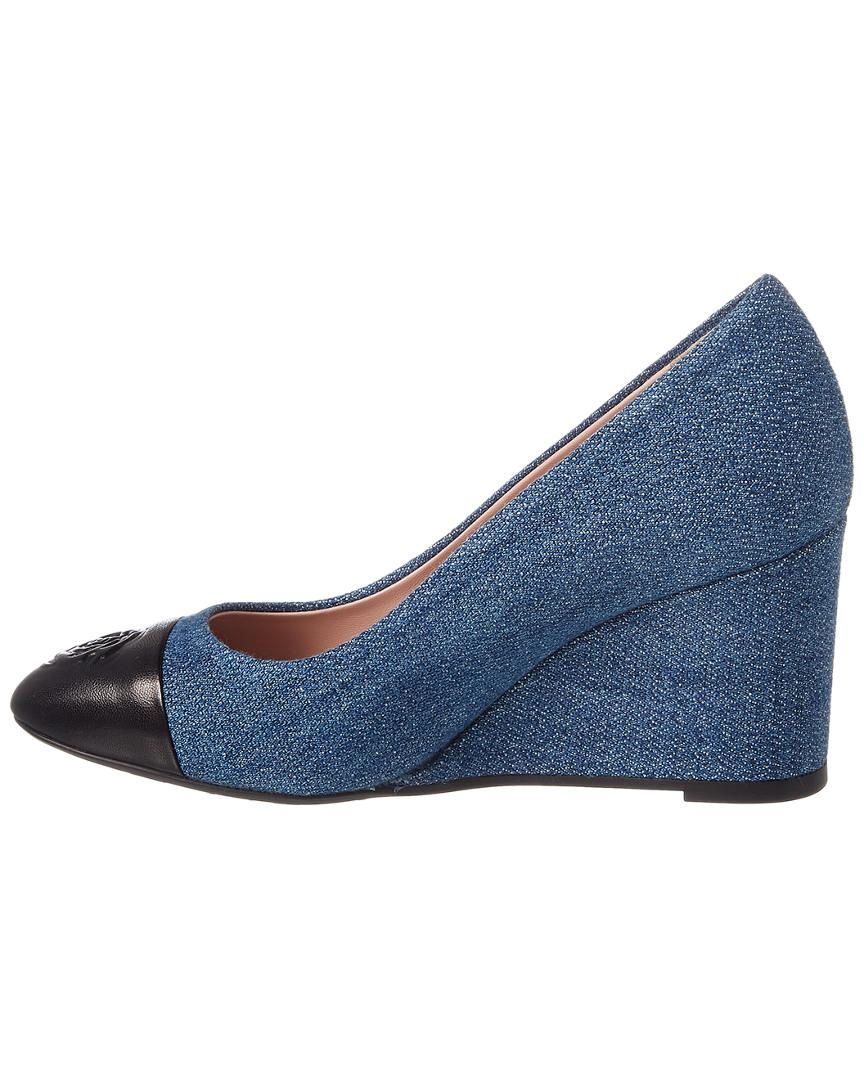 cb6cf8ce3c54 Lyst - Taryn Rose Collection Isabella Denim Wedge in Blue - Save 4%