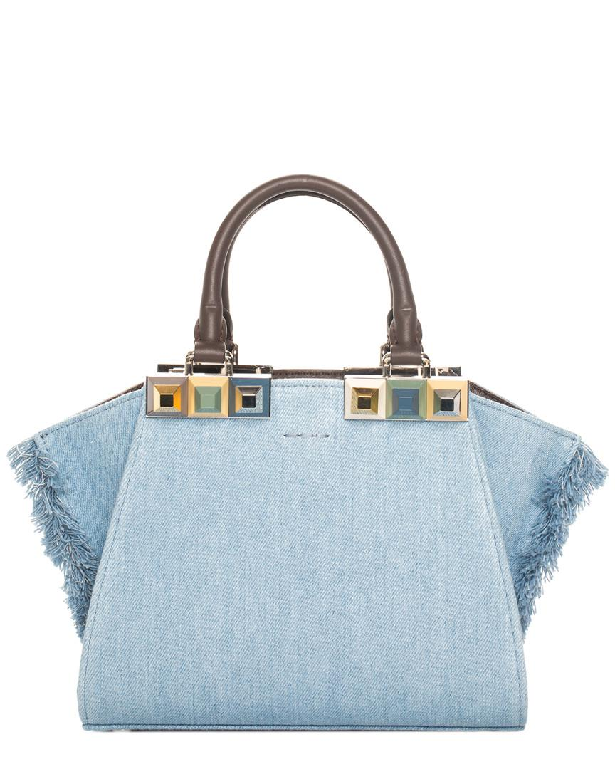 Fendi Blue Denim Mini 3jours Bag, Never Carried in Blue - Lyst ad53575624