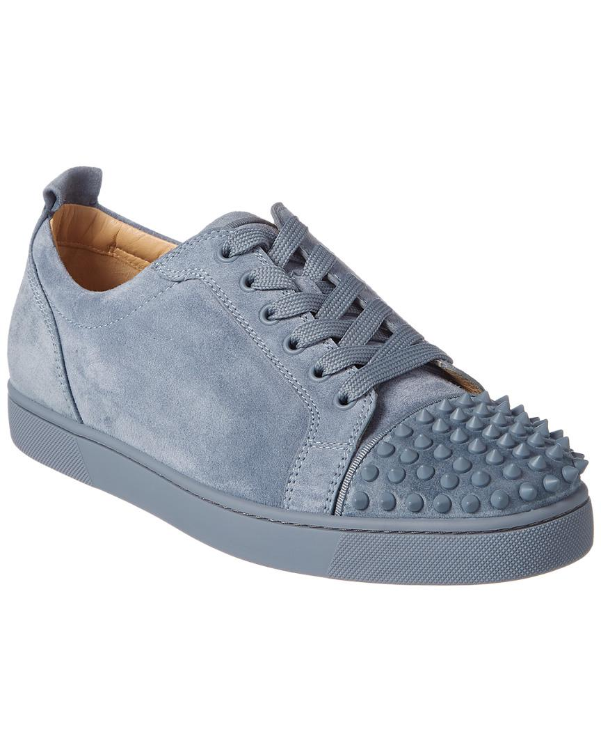 9f174b1b7e6f Christian Louboutin - Blue Louis Junior Spikes Suede Sneaker for Men - Lyst