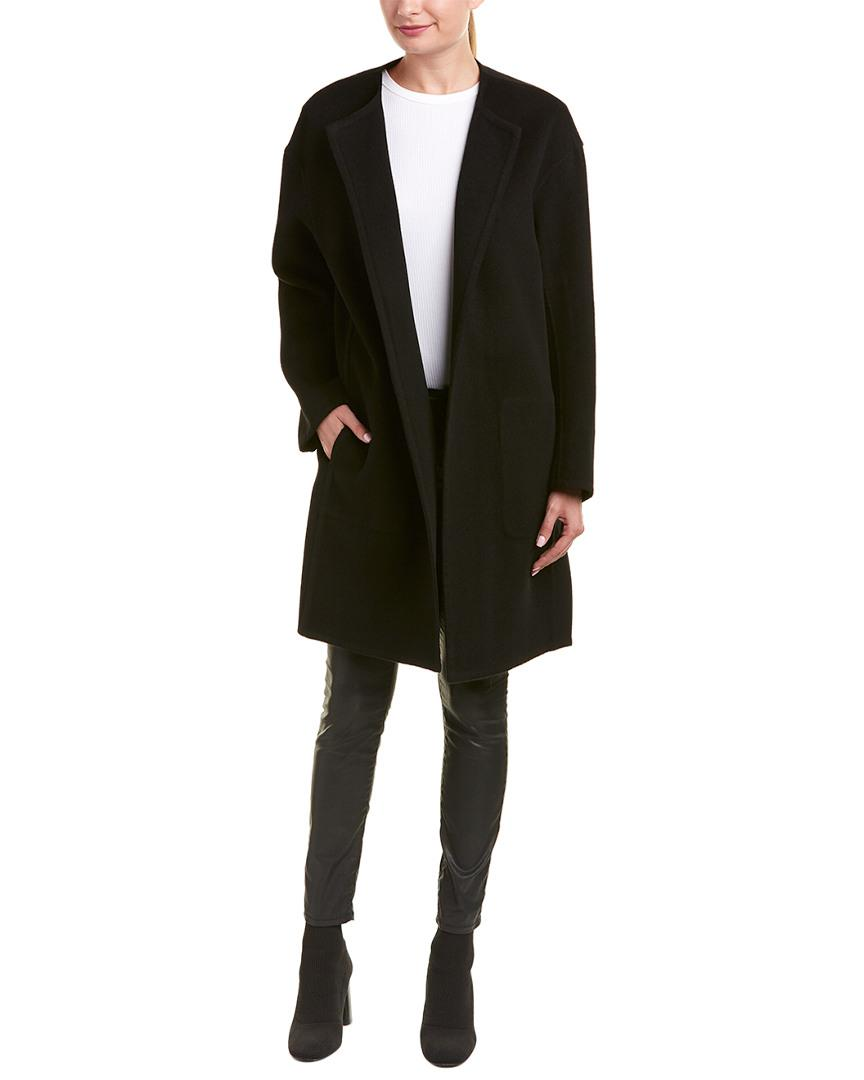 2b37b8c2bb108 Vince Reversible Wool   Cashmere-blend Coat in Black - Lyst