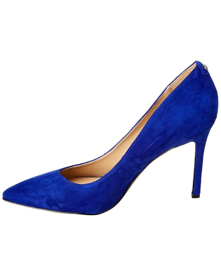 0a501f581ff78d Lyst - Sam Edelman Hazel Suede Pump in Blue