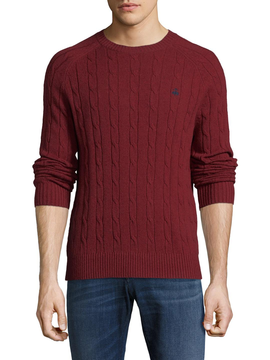Mens KNT Ls Solid Stitch Crew Sweatshirt Brooks Brothers Wiki Cheap Online Limited New GoKzY