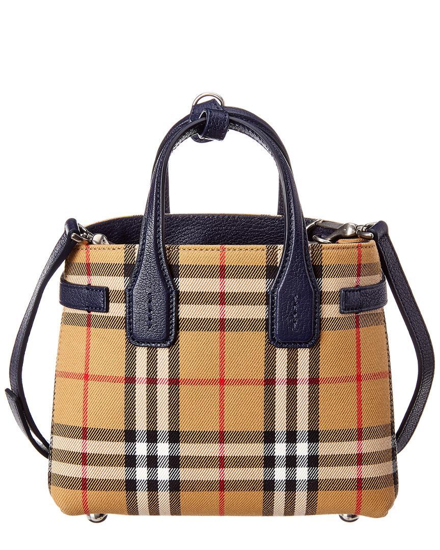 c69ebc121cf Lyst - Burberry Baby Banner Vintage Check & Leather Shoulder Bag in ...