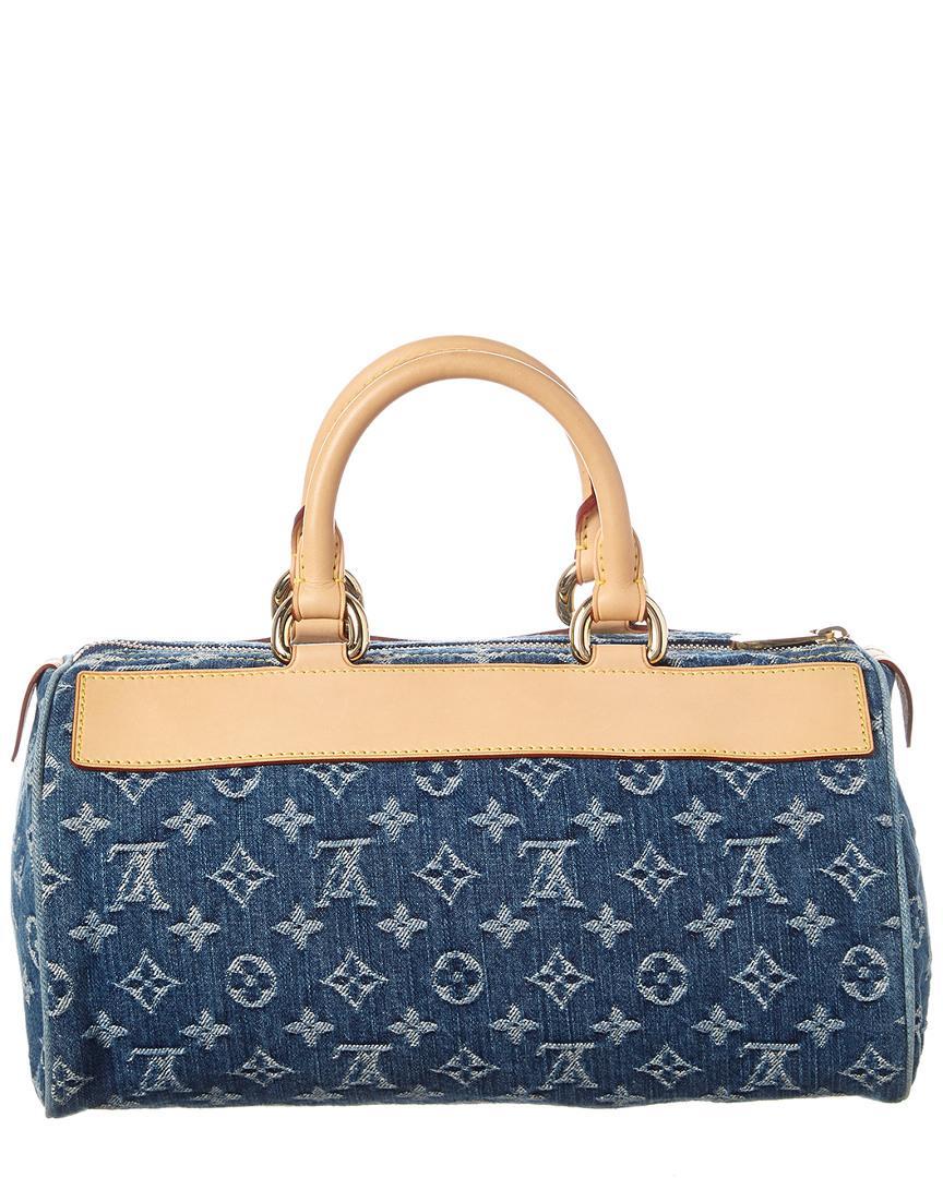 c23b4e3232c4 Lyst - Louis Vuitton Blue Monogram Denim Neo Speedy in Blue