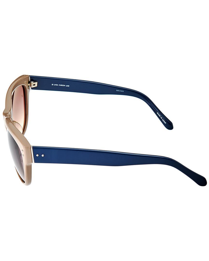 52a6113efc51 Linda Farrow Women s Lfl155c3sun Sunglasses in Blue - Lyst