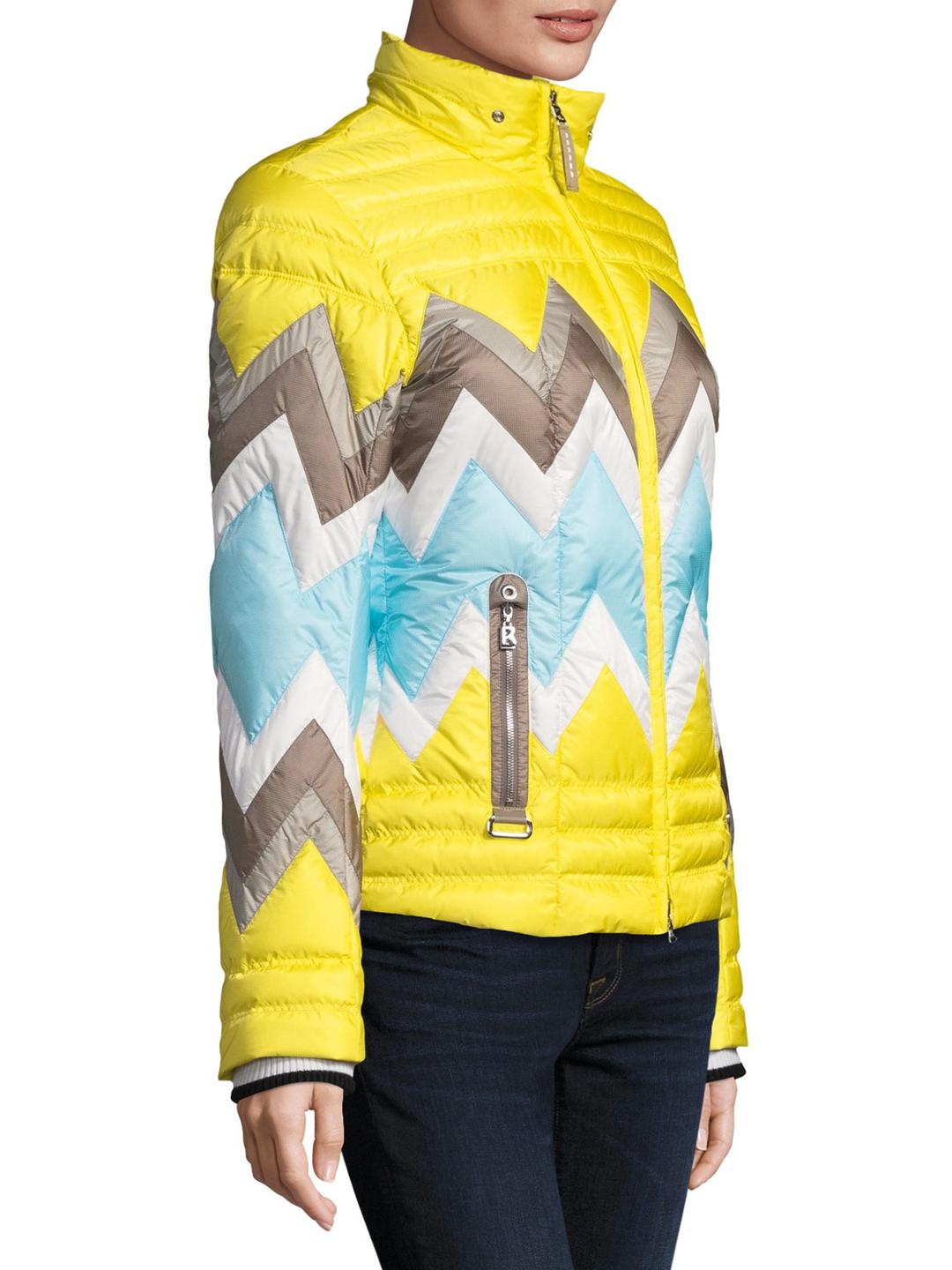 Bogner Nara-d Puffer Hooded Jacket in Yellow - Lyst a7e36ac0e