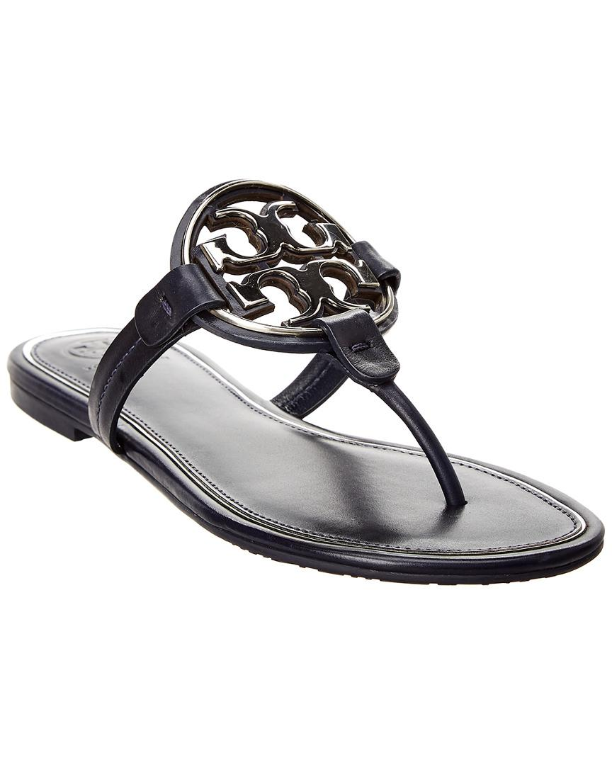 25994dee7a058 Lyst - Tory Burch Miller Leather Sandal in Blue