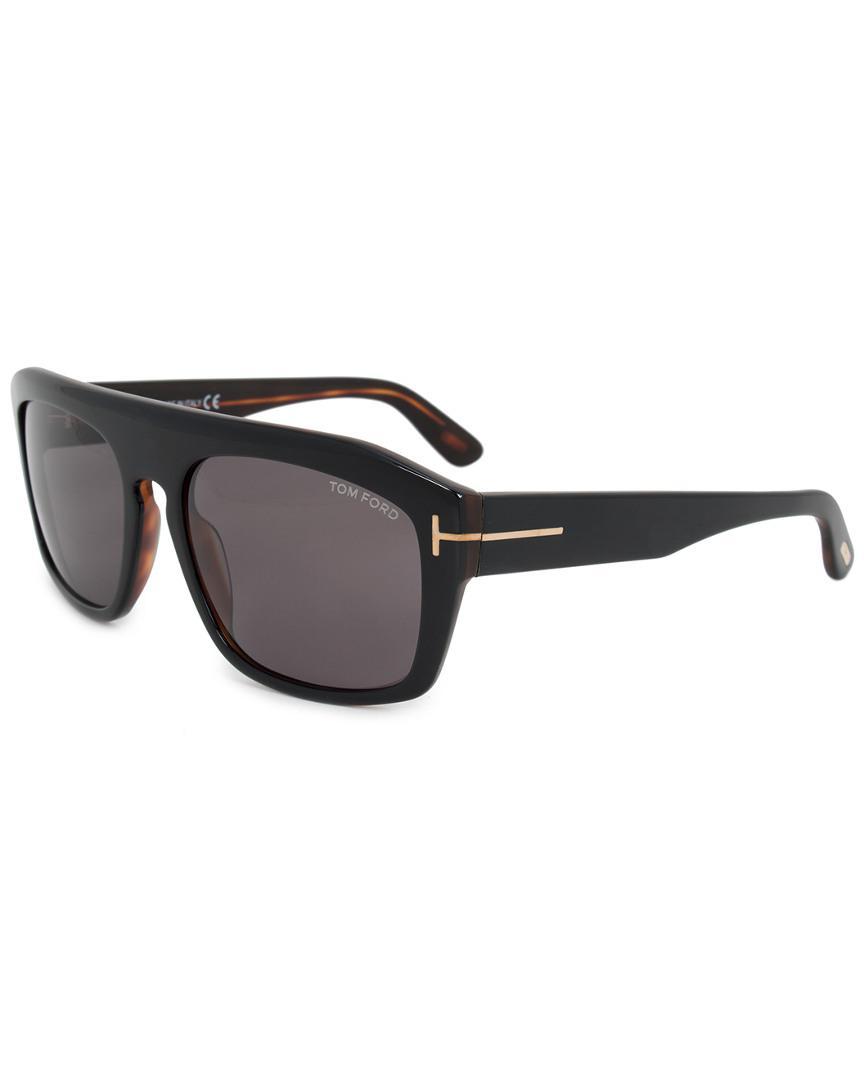 394cbe05610 Lyst - Tom Ford Men s Conrad Square Sunglasses Ft0470 05a 58 58mm ...