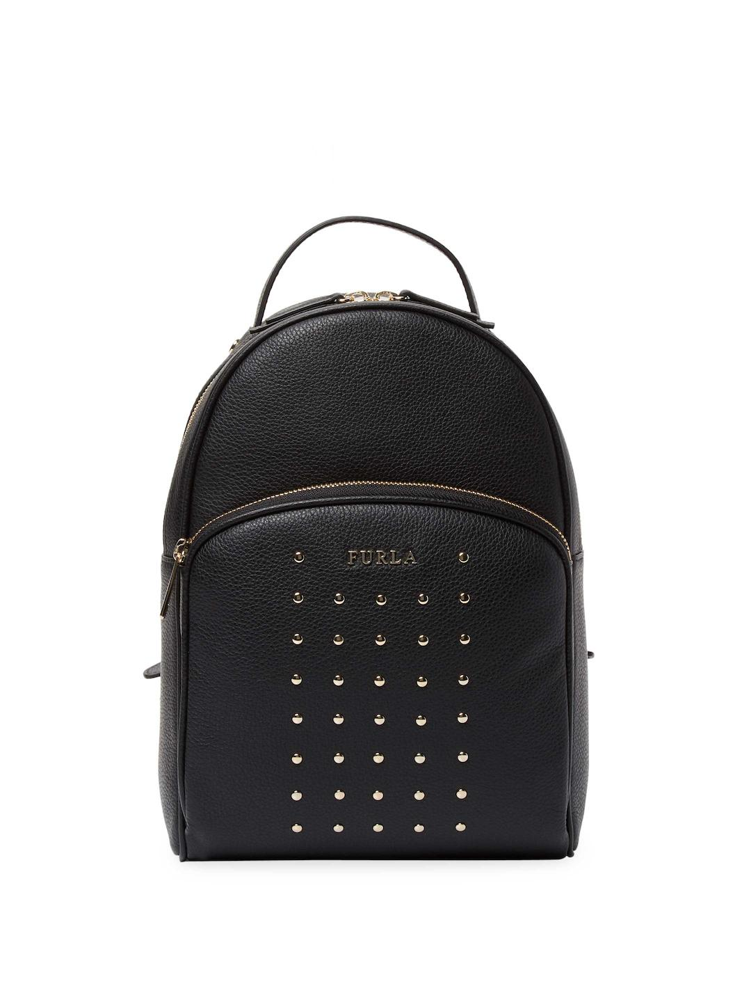 238170220ec1 Lyst - Furla Studded Frida M Backpack in Black