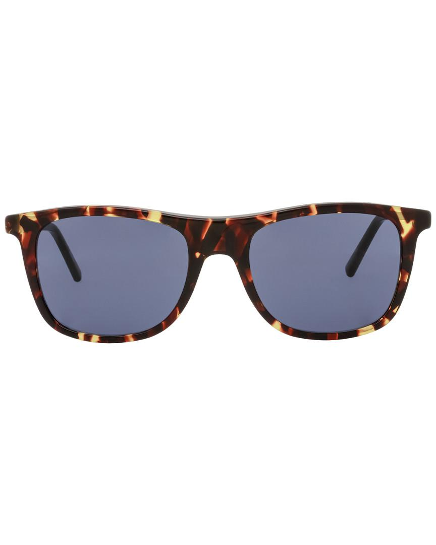 e6a95eb98bb00 Montblanc Mont Blanc Men s Mb647s 54mm Sunglasses in Blue for Men - Lyst