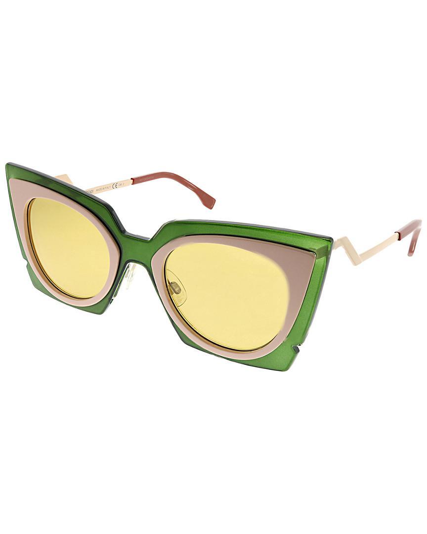 abe380a0b96 Lyst - Fendi Women s Cat-eye 49mm Sunglasses