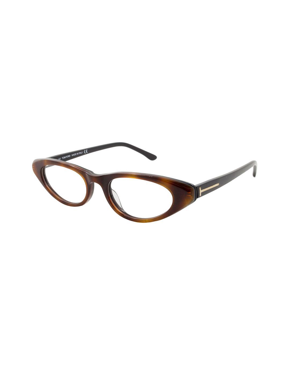 0dec4b90fda Lyst - Tom Ford Saddle Oval Optical Frame in Brown