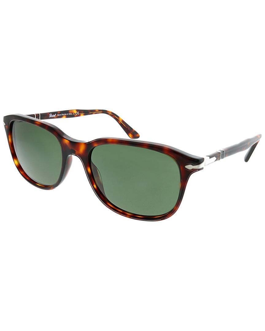 a1fbc5bfc038d Lyst - Persol Men s Rectangular 55mm Sunglasses in Green for Men