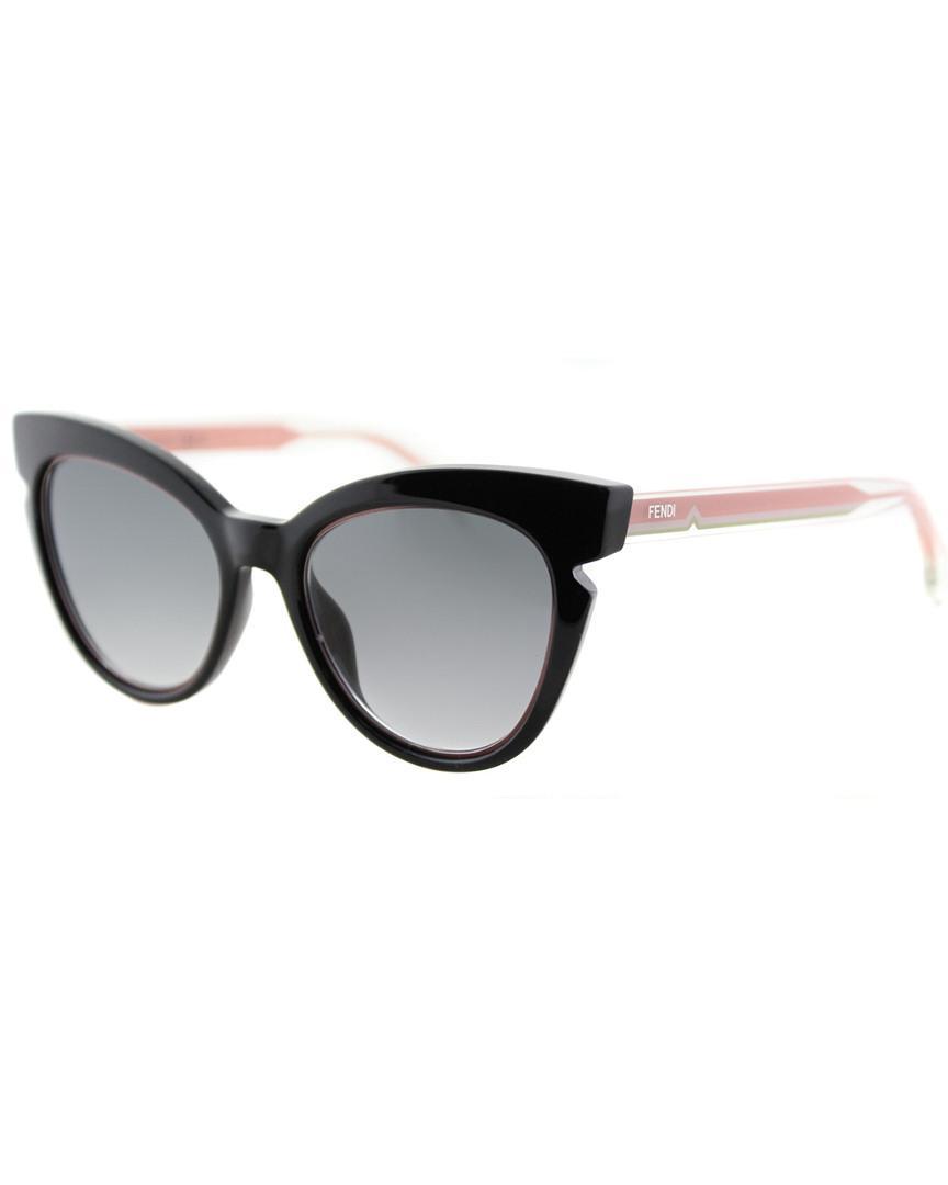 5ae99a5176 Lyst - Fendi Women s Ff0144 f s 51mm Sunglasses in Black