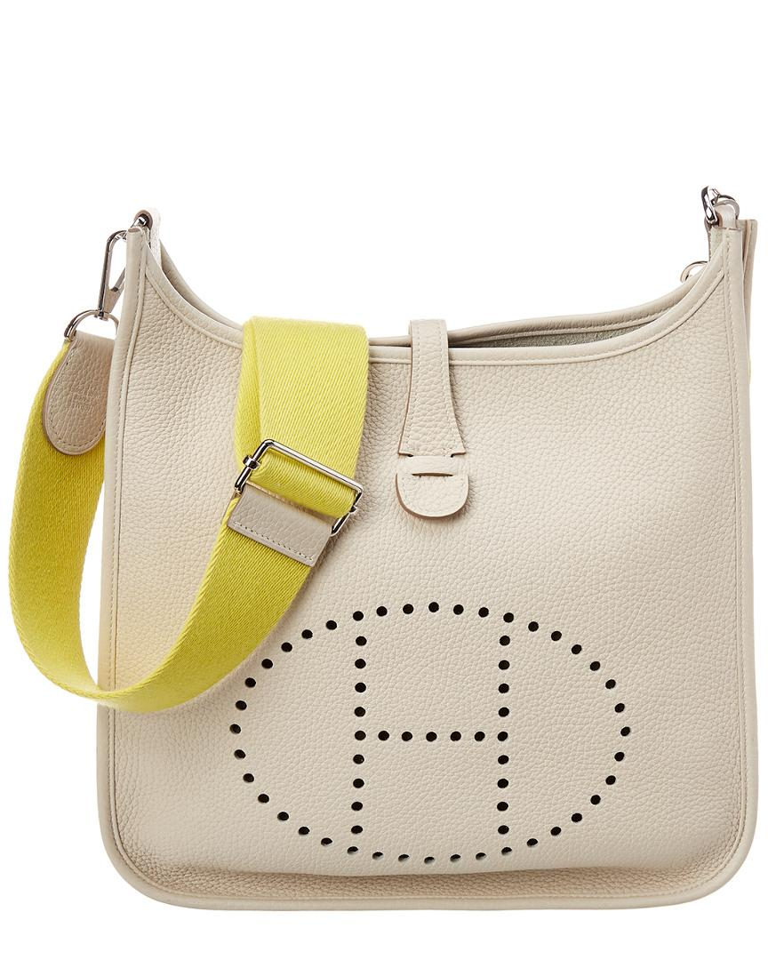 Lyst - Hermès Cream Clemence Leather Evelyne Iii Pm in Natural 79b0db4aa1b68