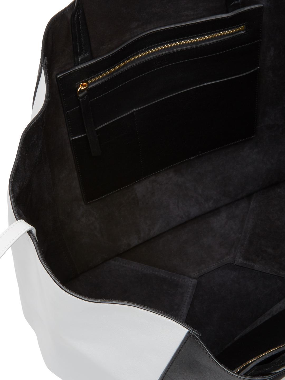 18ade3cc41f2 Lyst - Céline Bicolor Cabas Phantom Large Calfskin Tote in Black