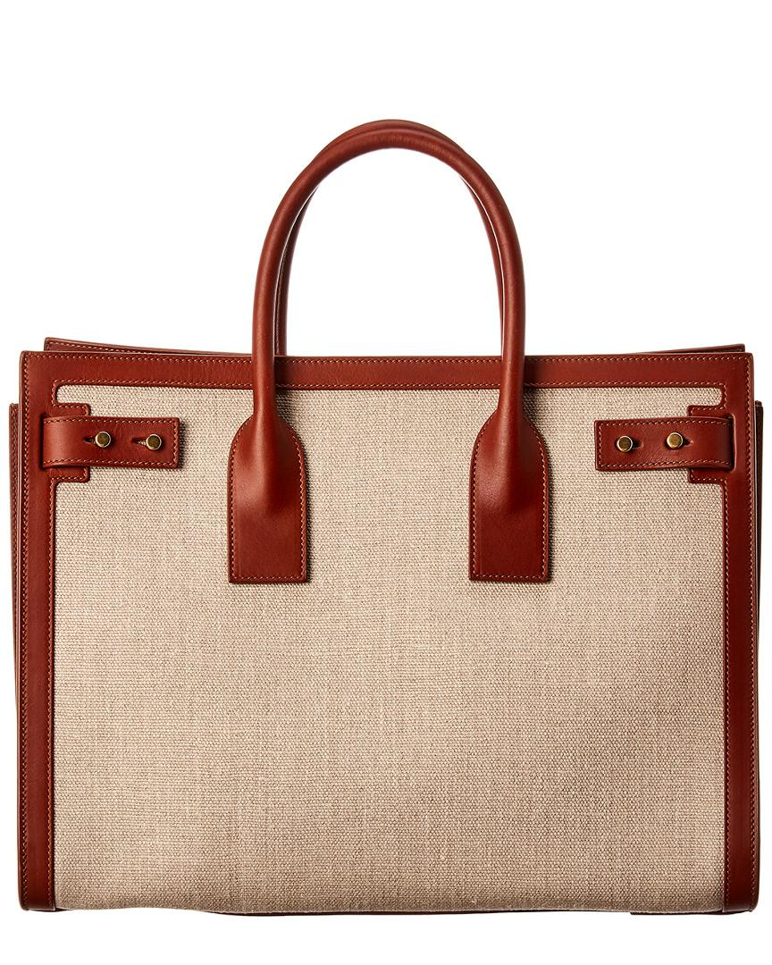 Brown Canvasamp; Small Jour In Laurent Lyst Tote Leather Saint Sac De Pk8n0OXw