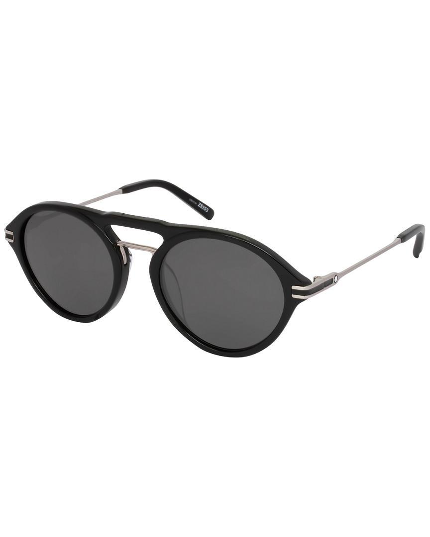 99ce775eae Lyst - Montblanc Mont Blanc Men s Mb716s-f 52mm Polarized Sunglasses ...