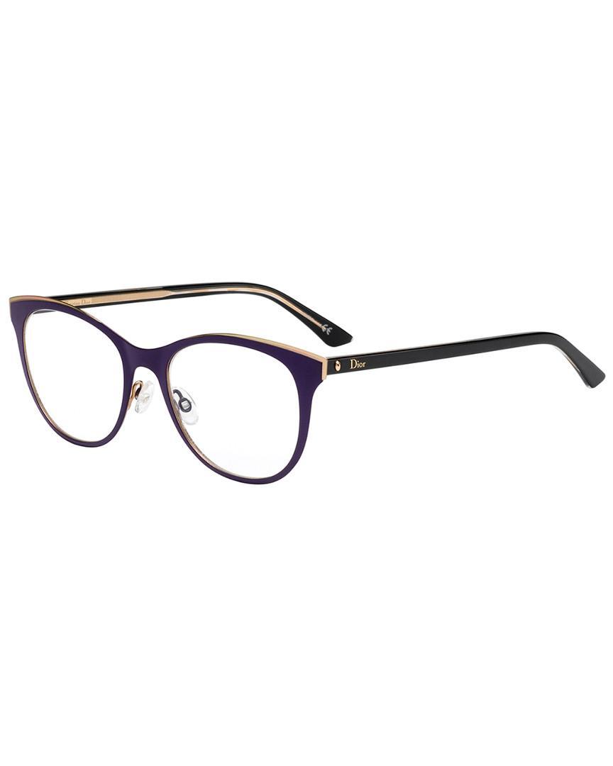 a7800a80cd Dior - Brown Women s Cat-eye 52mm Optical Frames - Lyst. View fullscreen