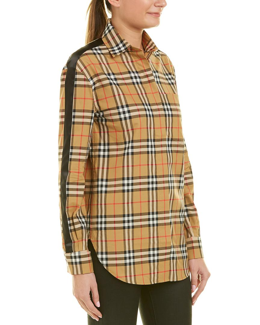 385587399a8ce9 Lyst - Burberry Vintage Check Shirt in Brown