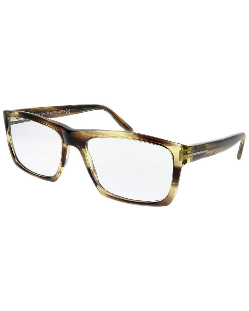 6dba3ee120 Tom Ford Women s Rectangular 55mm Optical Frames - Lyst