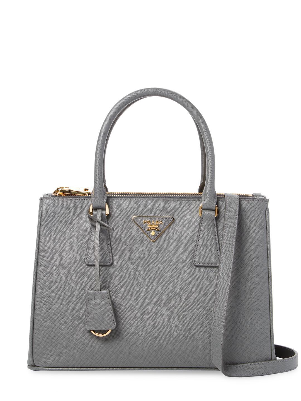 4d2f014a3cc8 Lyst - Prada Galleria Double Zip Small Saffiano Leather Tote in Black