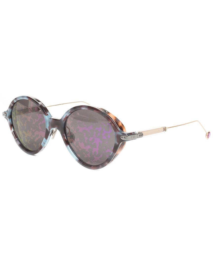 ffcd52d6039 Lyst - Dior Christian Women s Gold-tone Umbrage Sunglasses